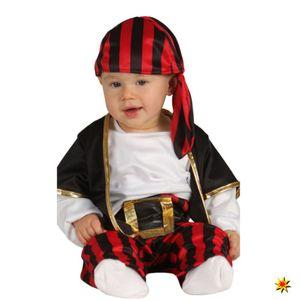 Fiestas Guirca piratenkostüm rot/schwarz Größe 86-92