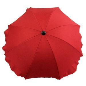BAMBINIWELT Sonnenschirm für Kinderwagen Ø68cm UV-Schutz50+ Schirm Sonnensegel Sonnenschutz MELIERT rot