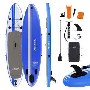 AREBOS Stand Up Paddle SUP Board Paddling Surfboard aufblasbar mit Paddel 320cm