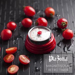 Design Timer Mechanisch Magnetisch Edelstahl Küchentimer Kurzzeitmesser Eieruhr Rot
