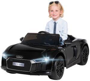 Kinder Elektro Auto Audi R8 4S Spyder Lizenziert Kinderauto Kinderfahrzeug 2018 (Schwarz)