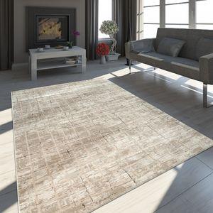 Orient Teppich Modern 3-D-Effekt Meliert Schimmernd Abstraktes Design Beige, Grösse:160x230 cm