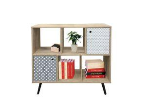 Sit Möbel MAILBOX Sideboard MDF | L 98,5 x B 29 x H 87 cm | white wash / blau, weiß | 11709-95 | Serie MAILBOX
