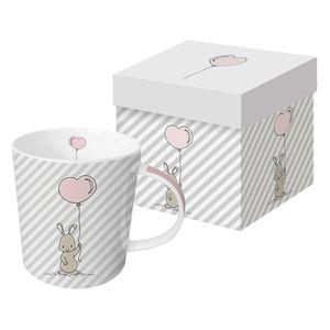 PPD Louise Trend Kaffeebecher Kaffeetasse Tasse Kaffee Becher Weiß Grau 350 ml