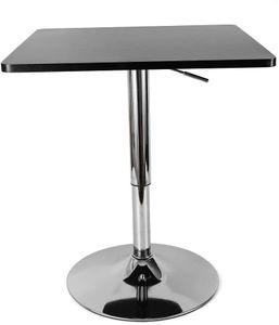 Stehtisch Höhenverstellbar Einfaches Design Bristo-Stehtisch für Café Home MDF & Edelstahl Schwarz