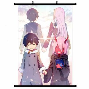 Anime 002 Poster, DARLING in the FRANXX Poster, Anime Wall Scroll Malerei Patinting, Zero Two Decorative Painting Poster --M