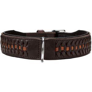 Hunter Halsband Solid Education Exclusive dunkelbraun versch. Größen, Größe:60, Farbe:dunkelbraun/schwarz