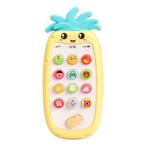 Baby Telefon Spielzeug, frühe Pädagogische handy Spielzeug Jungen Mädchen Lernen Geschenk Kinder Pretend Spielen für 1 2 Jahre Alt mit Sound und musik Farbe Gelb