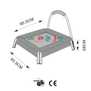 Super Jumper Mini Trampolin 95 cm | Kinder Trampolin | Indoor Trampolin | Sicherheitsnetz mit Stabilitätsring | Belastbarkeit 25 kg