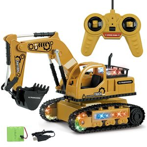 Technisches Fahrzeug Bagger 2.4G Fernbedienung LED Auto Spielzeug 1:24 RC 4-Kanal