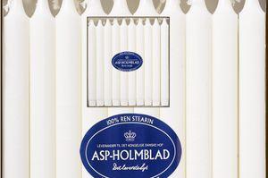 ASP Stearin Tafelkerzen 20 Stk., 24 x 2,3 cm, weiß