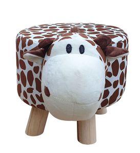 Kinderhocker Giraffe Tiermotiv Sitzhocker Polsterhocker Kinderstuhl Tierhocker