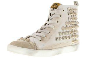 BULLBOXER Damen Mid-Cut Sneaker beige, Größe:38, Farbe:Beige