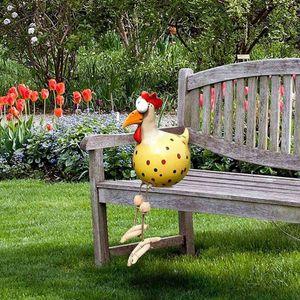 1 Stück Huhn Garten Statue Skulpturen Gartenfiguren Ornament Frühlings Deko für Hof Rasen Balkon 05