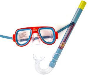 Schnorchel-Set Kinder Taucher-Brille Schwimmbrille Kunststoff Rot Grau Cars