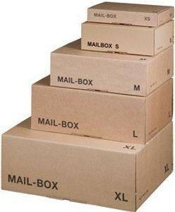 smartboxpro Paket-Versandkarton MAIL BOX, Größe: L, braun