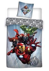 Marvel bettbezug Avengers 140 x 200 cm Mikrofaser grau