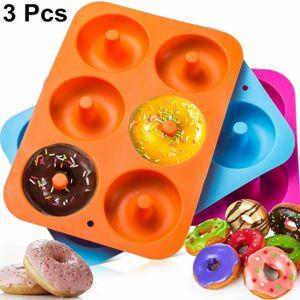 Miixia 3x 6er Silikon Donutbackform Donuts Backform Backförmchen Backhilfe Muffinform