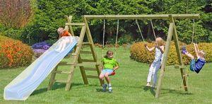 Spielanlage / Doppel Holzschaukel Premium 5.2 Kantholz B430xT190cm