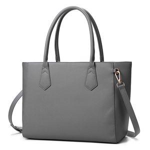 Damen Handtasche Damentaschen Shopper Schultertasche Hankeltasche Umhängetasche - Dunkelgrau