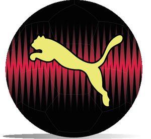 PUMA KA Big Cat Ball, Größe:5, Farbe:Puma Black-Red Blast-Fizzy Yellow