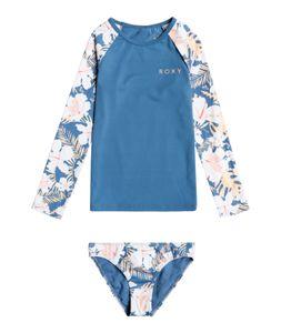 Roxy - UV Schwimmanzug für junge Mädchen - Langarmshirt - Swim Lovers - Blue Moonlight, 110