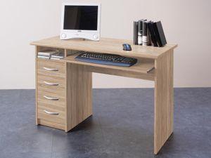 """Schreibtisch Computertisch Bürotisch Arbeitstisch Tisch Büromöbel """"Taunton I"""" Sonoma-Eiche"""