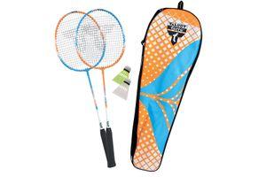 Talbot Torro Badminton-Set 2-Attacker, 2 Schläger, 2 Federbälle, in wertiger Tasche