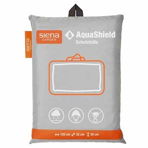 Siena Garden 530-2 AquaShield Kissen-Schutz-Tasche mit Reißverschluß 125 x 32 x 50 cm, 100% Polyester, hellgrau/schwarz (1 Stück)