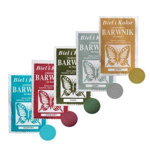 5 x 10g Batikfarbe Textilfarbe Stofffarbe färben, bitte Farbmix wählen, Farbe:Farbmix 1
