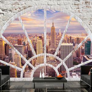 Basera Selbstklebende Fototapete Motiv New York d-A-0043-a-c, mit UV-Schutz, 294x210 cm