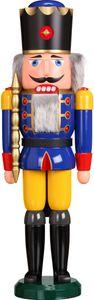 Nußknacker Figur Weihnachten original Erzgebirge Seiffen König blau 11801/2