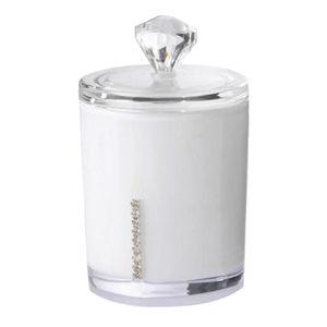 Wattepadspender Mit Deckel  Behälter Für Wattestäbchen Oder Kosmetik Weiß Klein