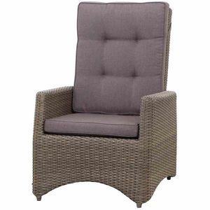 Siena Garden Lounge Sessel / Positionssessel Teramo Polyrattan bronze