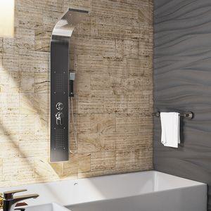 OIMEX CALM Duschpaneel Duschgarnitur Duschsystem Duschsäule Wasserfall Regendusche, Edelstahl gebürstet