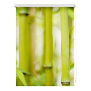 Rollo Klemmfix, ohne Bohren, blickdicht, Bambus - Grün 90 x 150 cm (B x L)