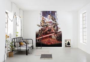"""Star Wars Fototapete von Komar """"STAR WARS EP9 Movie Poster Rey"""" - Größe 184 x 254 cm, 4 Teile"""