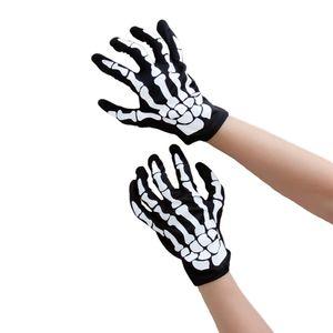 Oblique Unique Skelett Handschuhe Halloween Kostüm Karneval Fasching Unisex