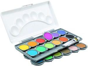 IDENA 24er Farbkasten Deckfarbenkasten + Deckweiß