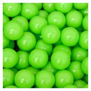 50 Bälle für Bällebad 5,5cm Babybälle Plastikbälle Baby Spielbälle Grün