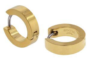Boccia Damen Creolen aus Titan Ø 13mm in goldfarben - 0510-13