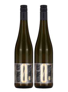Kolonne Null - 2x 0% Alkohol - Riesling mit Drehverschluss - 2er Set Alkoholfreier Riesling 0,75L- [Enthält Sulfite]