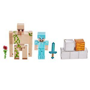 Minecraft Craft-A-Block 2er-Pack Figuren Steve und Eisen-Golem