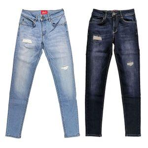 SAM Damen Skinny Jeans  5-Pocket Jeans light blue oder dark blue  Lift Effekt, Größe:33/32, Jeansfarbe:Dark Blue Wash