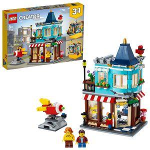 LEGO 31105 Creator 3in1 Spielzeugladen im Stadthaus - Konditorei - Blumenladen, Modellbausatz, Gebäude aus Bausteinen, Spielzeug ab 7 Jahre