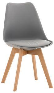 CLP Stuhl Linares Kunstleder Stoff Samt, Farbe:grau, Material:Kunststoff