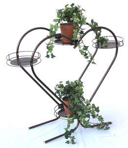 DanDiBo Blumentreppe Herz Art.81 Blumenständer Blumensäule 64 cm Pflanzenständer Regal