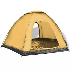 dereoir 6-Personen-Zelt Blau und Gelb