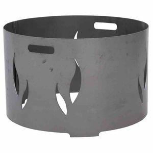 Siena Garden 10059 Feuerschalenaufsatz, Stahl silber/anthrazit, passend zu der Feuerschale XXL Ø100cm, mit eingraviertem Muster