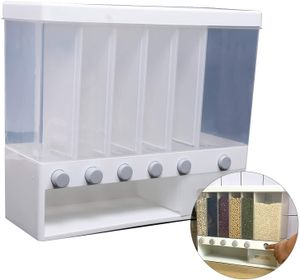 10KG Müslispender Wandbehälter für Getreidespender Aufbewahrungsbox mit großer Kapazität Trockenfutter-Aufbewahrungsbehälter Versiegelter Getreidebehälter für die Wohnküche